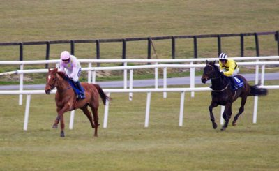 Annie Power (left) will go head-to-head with Big Bucks in the World Hurdle.