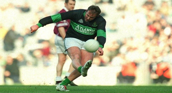 Nemo Rangers captain Colin Corkery kicks for goal in the 2003 All-Ireland final at Croke Park