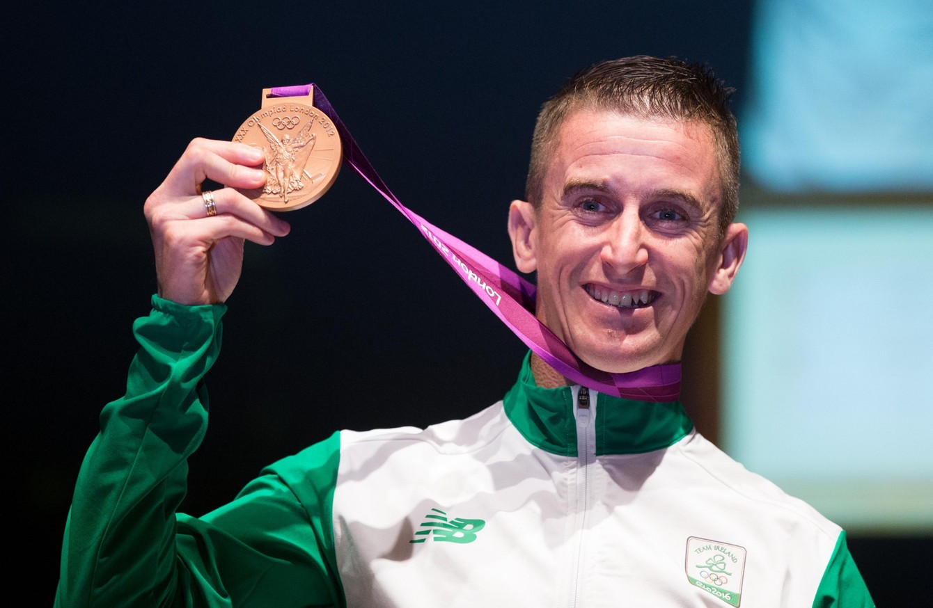 Race walker Rob Heffernan with his Olympic bronze medal
