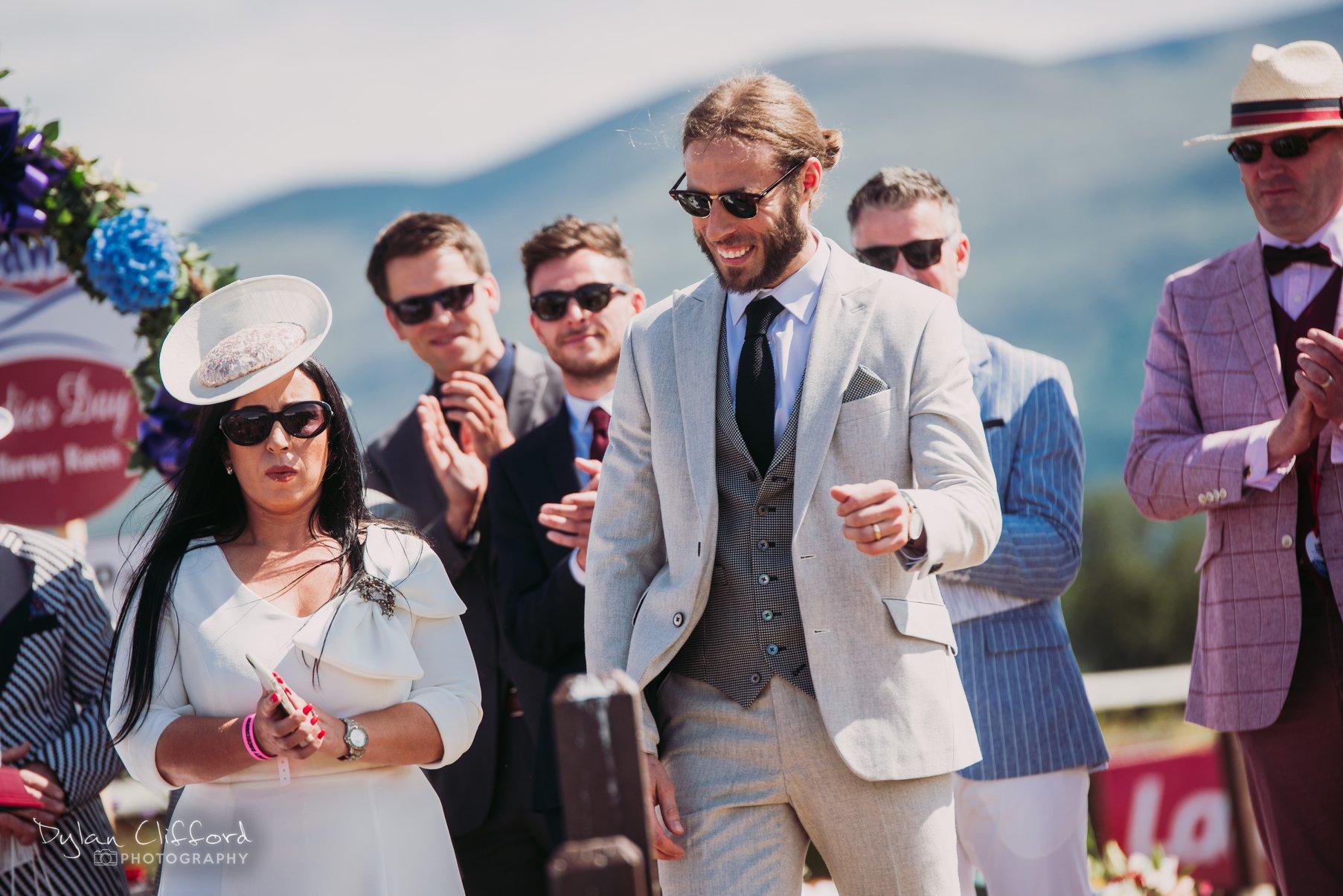 Michael Dorgan after winning Best Dressed Gent at Killarney Races