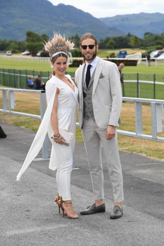Killarney Ladies day 2018 Laura and Michael Dorgan from Cork Enjoying the fun and fine weather at the Dawn Milk Ladies Day in Killarney on Thursday 19th of July, 2018.