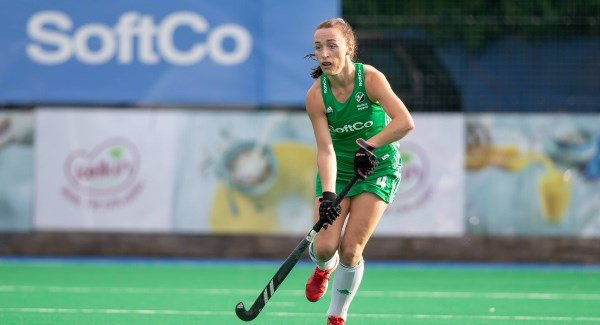 Ireland's Yvonne O'Byrne in action against Canada at Pembroke Wanderers Hockey Club last month. O'Byrne says the World Cup in London will be an 'unbelievable opportunity' for the Green Army. Picture: Inpho/Morgan Treacy