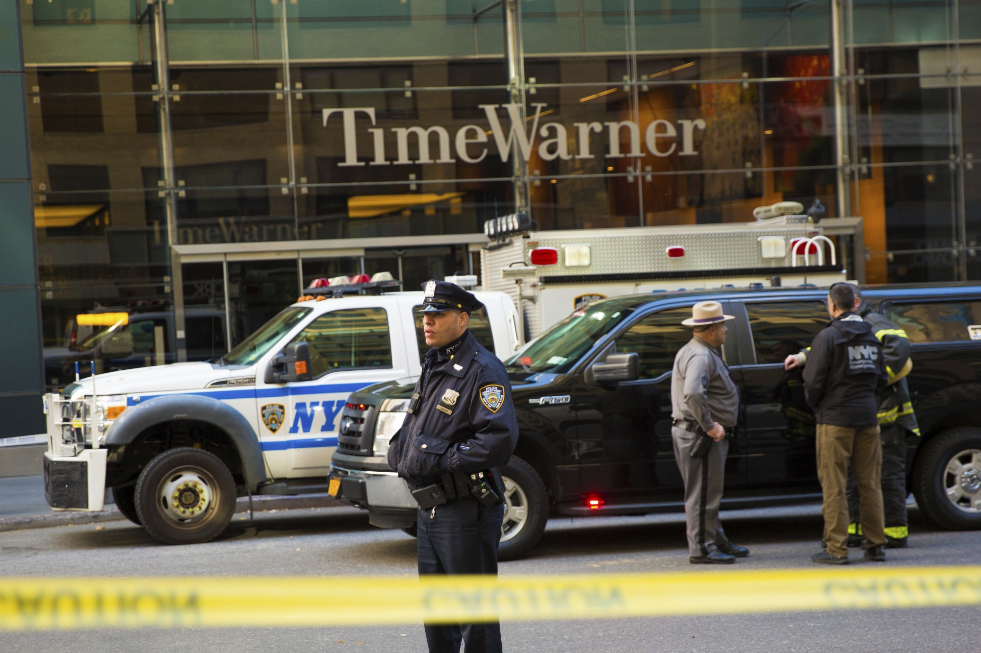 Time Warner Centre, home of CNN, where a package containing a live explosive and an envelope with white powder were sent.