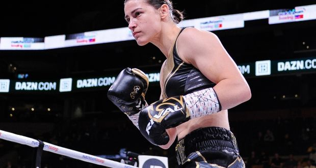 Katie Taylor: the reigning IBF and WBA World Lightweight champion faces WBC World super-featherweight champion Eva Wahlstrom at Madison Square Garden. Photograph: Emily Harney/Inpho