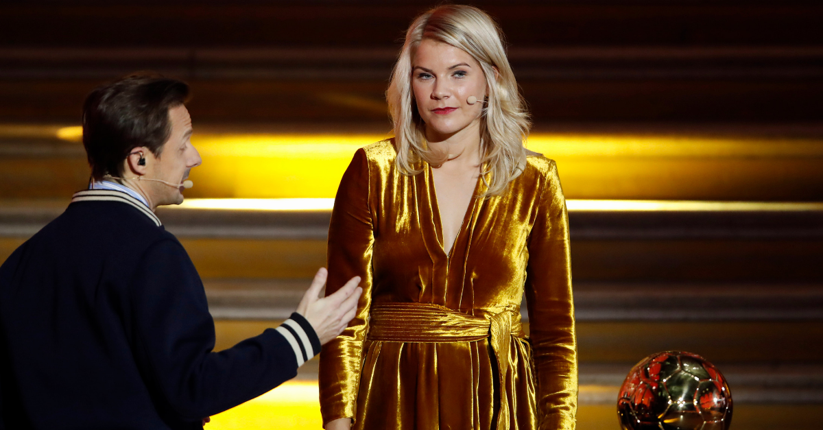 Norway's 23-year-old Ada Hegerberg was asked if her if she knew how to 'twerk', live on stage after receiving her Women's Ballon d'Or