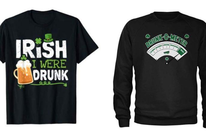 Irish stereotype merchandise on Amazon