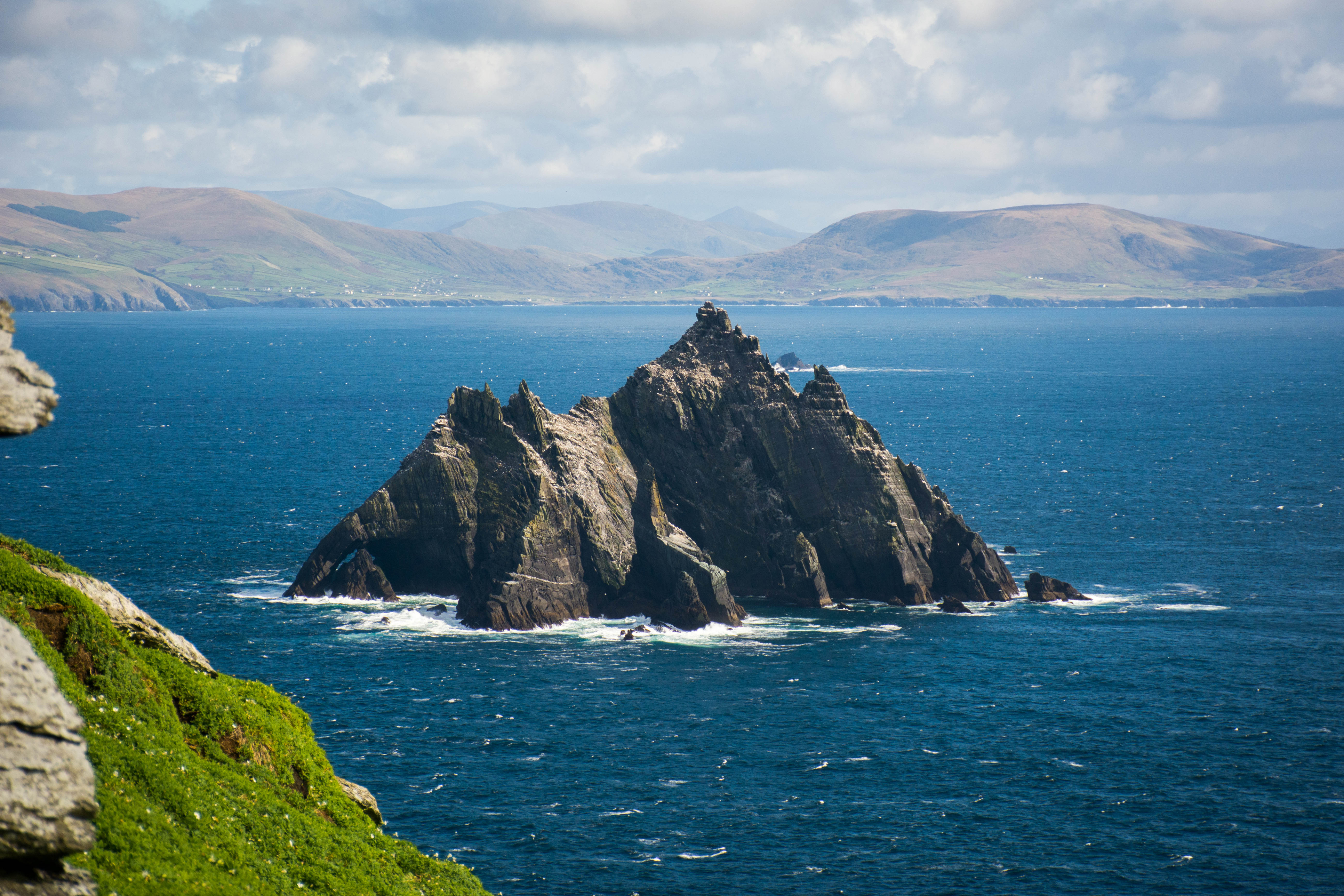 Skellig Micheal island in Co Kerry, Ireland. Image: Getty