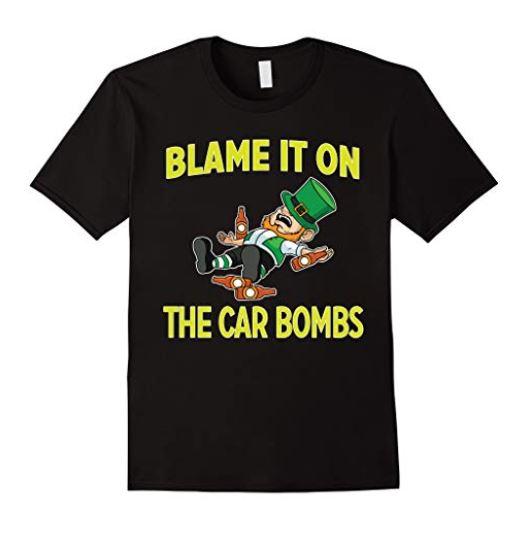 Irish Car bomb t-shirt for sale on Amazon