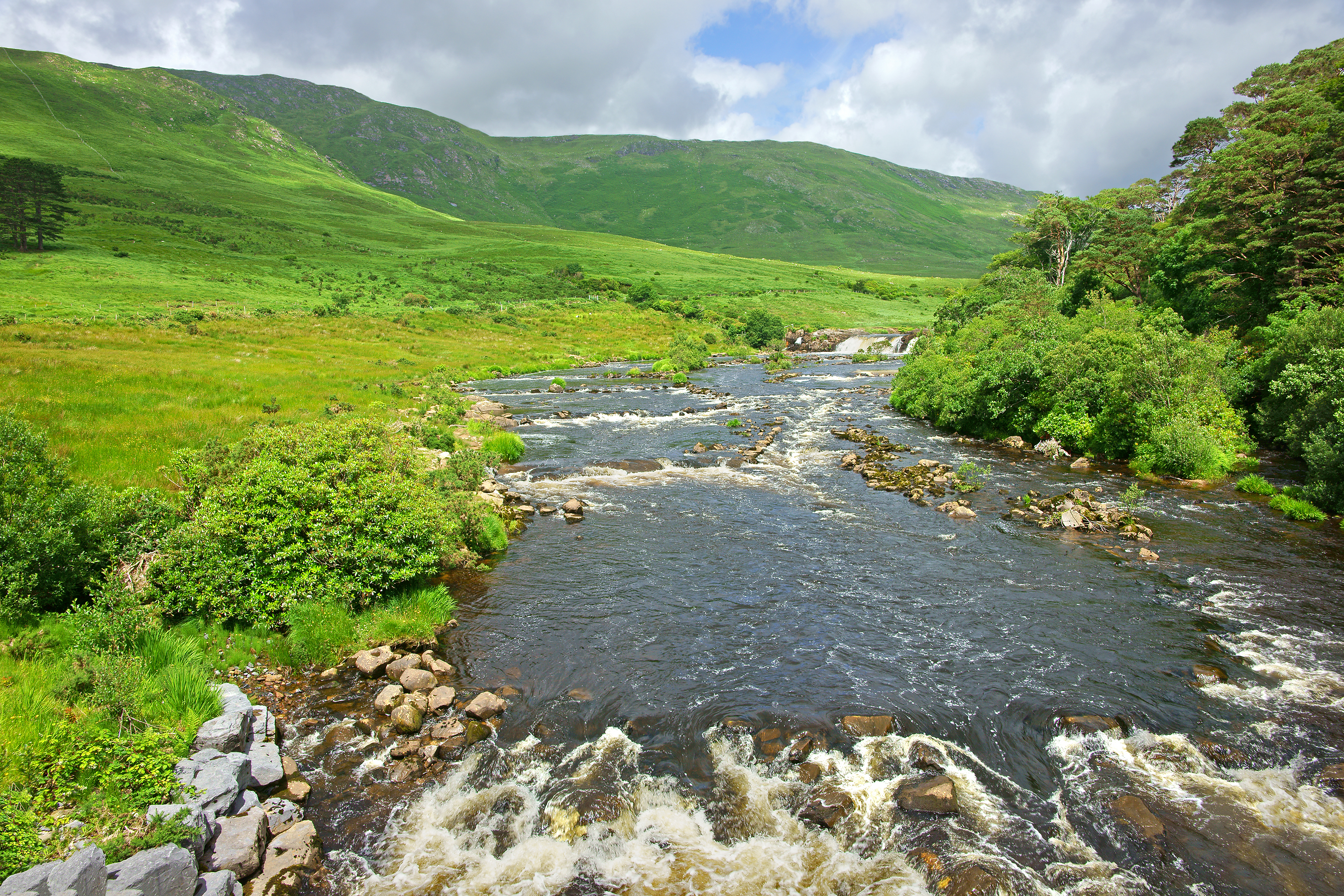 The River Erriff and Aasleagh Falls, Leenane in County Galway, Ireland. Getty