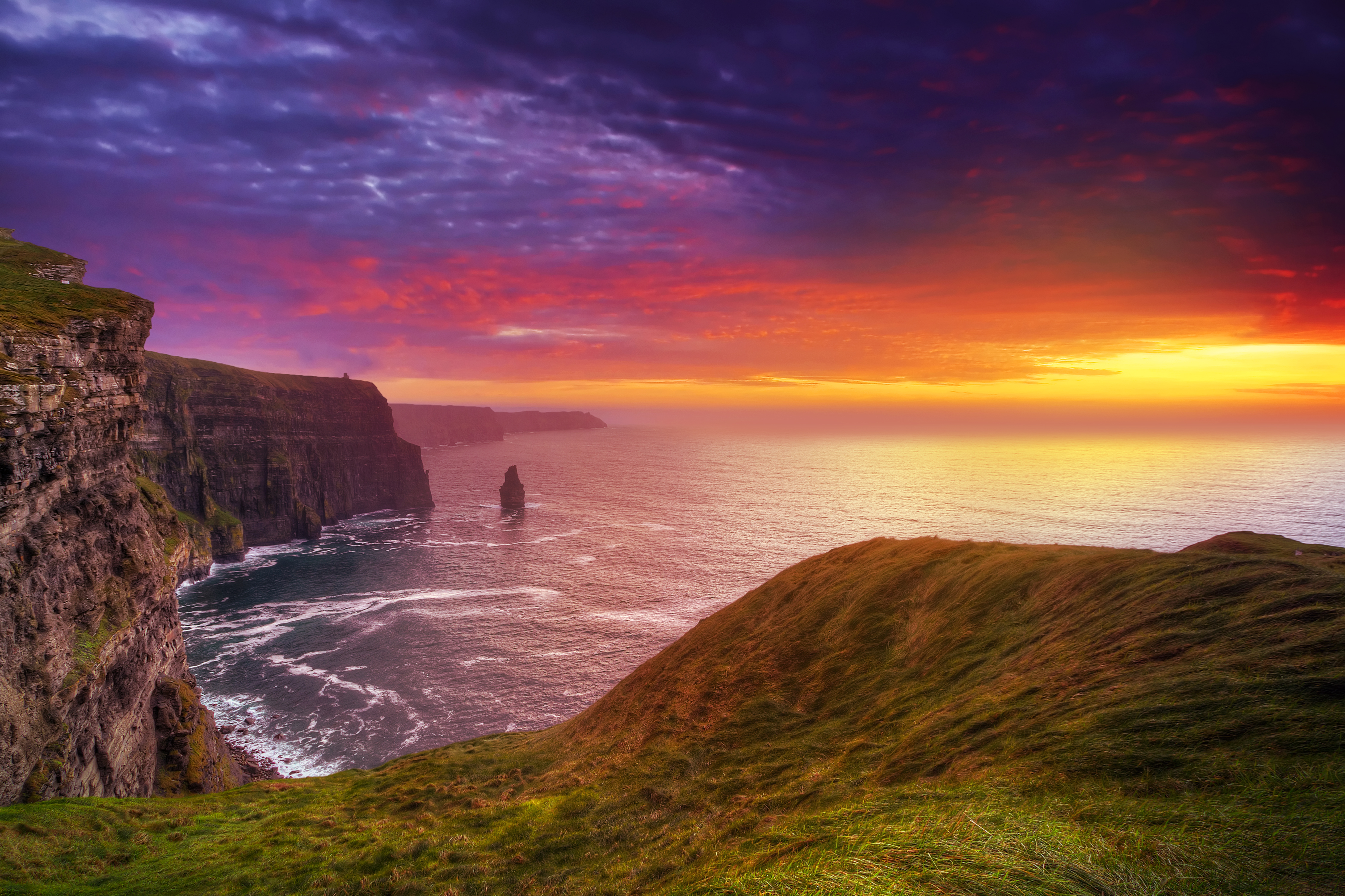 Cliffs of Moher are Ireland's second largest tourist attraction. GETTY IMAGES