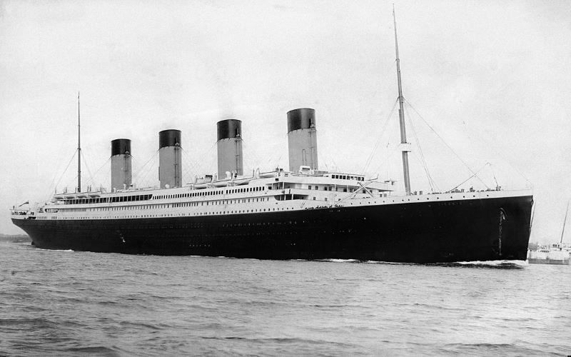 RMS Titanic departing Southampton on April 10, 1912. Image: Wikipedia