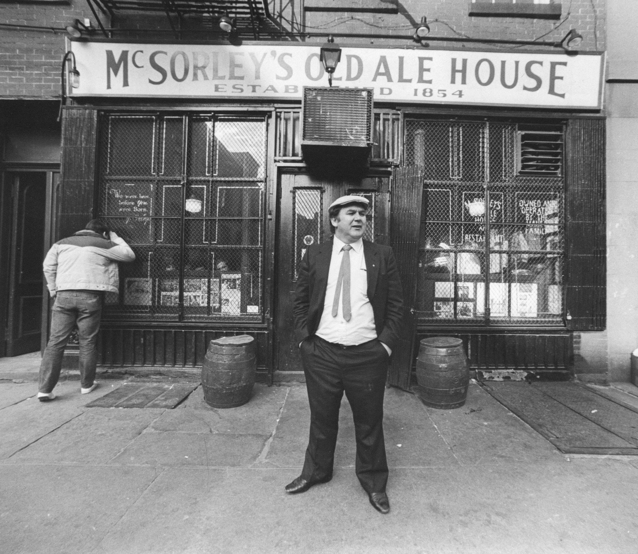 Legendary: Matty Maher, owner of McSorley's Old Ale House in Manhattan in 1985. Photo: Getty Images